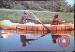 Image of Birch tree Canoe United States USA, 1975, second 18 stock footage video 65675022754