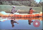 Image of Birch tree Canoe United States USA, 1975, second 19 stock footage video 65675022754