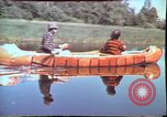 Image of Birch tree Canoe United States USA, 1975, second 20 stock footage video 65675022754