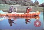 Image of Birch tree Canoe United States USA, 1975, second 21 stock footage video 65675022754