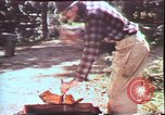Image of Birch tree Canoe United States USA, 1975, second 37 stock footage video 65675022754