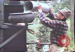 Image of Birch tree Canoe United States USA, 1975, second 58 stock footage video 65675022754