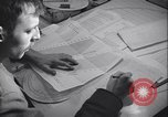 Image of men prepare weather data sheet Sierra Greenland, 1954, second 27 stock footage video 65675022805