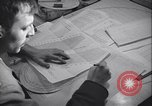 Image of men prepare weather data sheet Sierra Greenland, 1954, second 29 stock footage video 65675022805