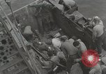 Image of Wounded US Marines brought aboard USS Mount McKinley AGC-7 Peleliu Palau Islands, 1944, second 29 stock footage video 65675022862