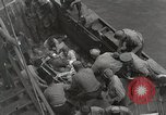 Image of Wounded US Marines brought aboard USS Mount McKinley AGC-7 Peleliu Palau Islands, 1944, second 33 stock footage video 65675022862
