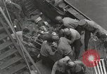 Image of Wounded US Marines brought aboard USS Mount McKinley AGC-7 Peleliu Palau Islands, 1944, second 36 stock footage video 65675022862