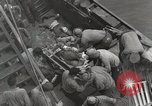 Image of Wounded US Marines brought aboard USS Mount McKinley AGC-7 Peleliu Palau Islands, 1944, second 38 stock footage video 65675022862