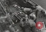 Image of Wounded US Marines brought aboard USS Mount McKinley AGC-7 Peleliu Palau Islands, 1944, second 39 stock footage video 65675022862