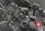 Image of Wounded US Marines brought aboard USS Mount McKinley AGC-7 Peleliu Palau Islands, 1944, second 40 stock footage video 65675022862