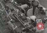 Image of Wounded US Marines brought aboard USS Mount McKinley AGC-7 Peleliu Palau Islands, 1944, second 41 stock footage video 65675022862