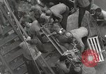Image of Wounded US Marines brought aboard USS Mount McKinley AGC-7 Peleliu Palau Islands, 1944, second 42 stock footage video 65675022862