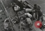 Image of Wounded US Marines brought aboard USS Mount McKinley AGC-7 Peleliu Palau Islands, 1944, second 60 stock footage video 65675022862