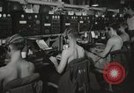 Image of Interior of Combat Information Center aboard USS Mount McKinley Peleliu Palau Islands, 1944, second 28 stock footage video 65675022936