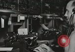 Image of Interior of Combat Information Center aboard USS Mount McKinley Peleliu Palau Islands, 1944, second 39 stock footage video 65675022936