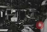 Image of Interior of Combat Information Center aboard USS Mount McKinley Peleliu Palau Islands, 1944, second 41 stock footage video 65675022936