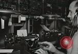 Image of Interior of Combat Information Center aboard USS Mount McKinley Peleliu Palau Islands, 1944, second 47 stock footage video 65675022936