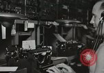 Image of Interior of Combat Information Center aboard USS Mount McKinley Peleliu Palau Islands, 1944, second 49 stock footage video 65675022936