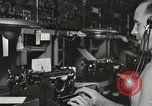 Image of Interior of Combat Information Center aboard USS Mount McKinley Peleliu Palau Islands, 1944, second 51 stock footage video 65675022936