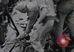 Image of 81st Army Division firing on sniper Peleliu Palau Islands, 1944, second 32 stock footage video 65675022967