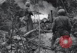 Image of 81st Army Division firing on sniper Peleliu Palau Islands, 1944, second 55 stock footage video 65675022967