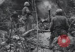 Image of 81st Army Division firing on sniper Peleliu Palau Islands, 1944, second 56 stock footage video 65675022967