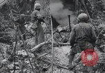 Image of 81st Army Division firing on sniper Peleliu Palau Islands, 1944, second 57 stock footage video 65675022967