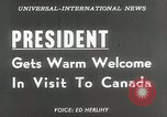 Image of President Dwight D Eisenhower Ottawa Ontario Canada, 1953, second 16 stock footage video 65675023019