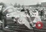 Image of College football game College Park Maryland USA, 1953, second 8 stock footage video 65675023024