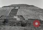 Image of Pyramid of the Sun Teotihuacan Mexico, 1925, second 19 stock footage video 65675023035
