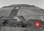 Image of Pyramid of the Sun Teotihuacan Mexico, 1925, second 20 stock footage video 65675023035