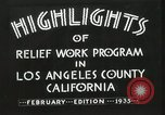 Image of Relief Administration Los Angeles California USA, 1935, second 17 stock footage video 65675023041
