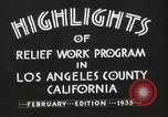 Image of Relief Administration Los Angeles California USA, 1935, second 18 stock footage video 65675023041