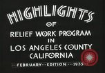 Image of Relief Administration Los Angeles California USA, 1935, second 19 stock footage video 65675023041