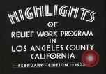 Image of Relief Administration Los Angeles California USA, 1935, second 20 stock footage video 65675023041
