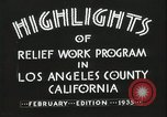 Image of Relief Administration Los Angeles California USA, 1935, second 22 stock footage video 65675023041