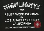 Image of Relief Administration Los Angeles California USA, 1935, second 23 stock footage video 65675023041