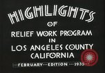 Image of Relief Administration Los Angeles California USA, 1935, second 25 stock footage video 65675023041