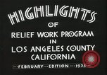 Image of Relief Administration Los Angeles California USA, 1935, second 26 stock footage video 65675023041