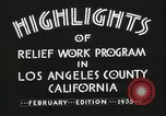 Image of Relief Administration Los Angeles California USA, 1935, second 27 stock footage video 65675023041