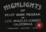 Image of Relief Administration Los Angeles California USA, 1935, second 28 stock footage video 65675023041