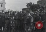 Image of Gabriele D'Annunzio welcomed as he enters Fiume Fiume Croatia, 1919, second 4 stock footage video 65675023056