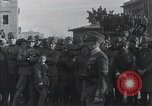 Image of Gabriele D'Annunzio welcomed as he enters Fiume Fiume Croatia, 1919, second 5 stock footage video 65675023056
