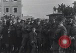 Image of Gabriele D'Annunzio welcomed as he enters Fiume Fiume Croatia, 1919, second 10 stock footage video 65675023056