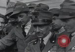Image of Gabriele D'Annunzio welcomed as he enters Fiume Fiume Croatia, 1919, second 19 stock footage video 65675023056