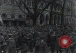 Image of Gabriele D'Annunzio welcomed as he enters Fiume Fiume Croatia, 1919, second 20 stock footage video 65675023056