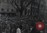 Image of Gabriele D'Annunzio welcomed as he enters Fiume Fiume Croatia, 1919, second 23 stock footage video 65675023056