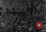 Image of Gabriele D'Annunzio welcomed as he enters Fiume Fiume Croatia, 1919, second 36 stock footage video 65675023056