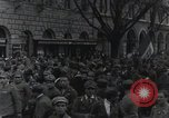 Image of Gabriele D'Annunzio welcomed as he enters Fiume Fiume Croatia, 1919, second 37 stock footage video 65675023056