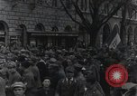Image of Gabriele D'Annunzio welcomed as he enters Fiume Fiume Croatia, 1919, second 38 stock footage video 65675023056